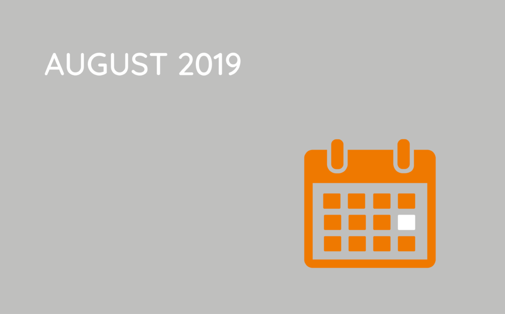 Termin icon august 2019